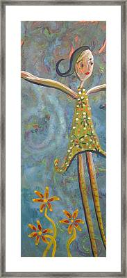 The Girl Framed Print by Cherie Sexsmith