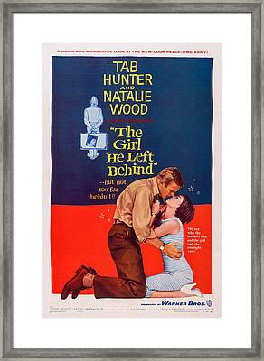 The Girl He Left Behind, U.s. Poster Framed Print by Everett