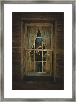 The Girl In The Window  Framed Print by L Wright
