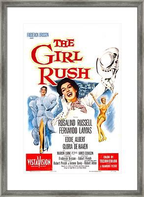 The Girl Rush, Us Poster, Rosalind Framed Print by Everett
