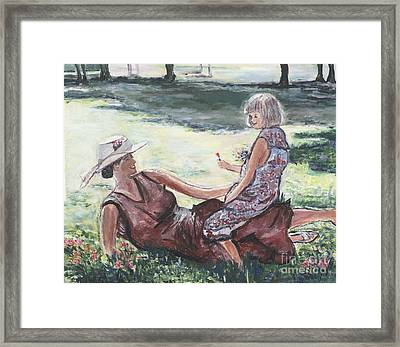The Giving Framed Print by Helena Bebirian
