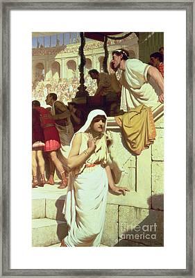 The Gladiators Wife Framed Print by Edmund Blair Leighton