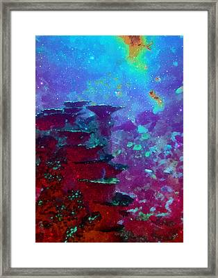 The Glimmering Deep Framed Print by Wendy J St Christopher