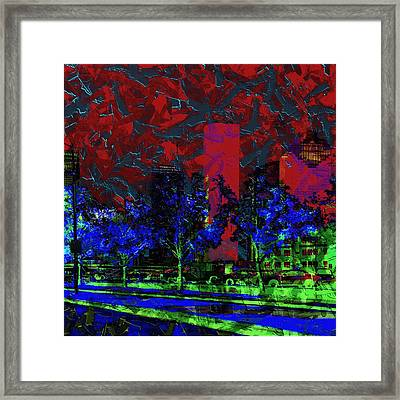 The Glowing City  Framed Print by Jessica MG