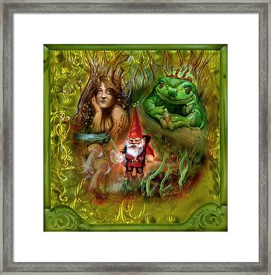 The Gnomes Journey Framed Print by Luis  Navarro