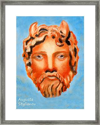 The God Jupiter Or Zeus.  Framed Print by Augusta Stylianou