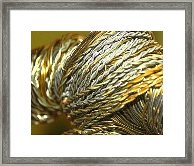 The God Man Framed Print by Sandra Pena de Ortiz