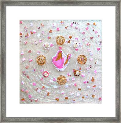 The Goddess With The Heart-flame Framed Print by Heidi Sieber