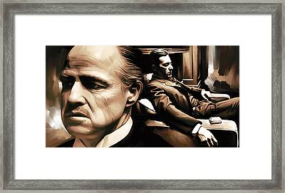 The Godfather Artwork Framed Print by Sheraz A
