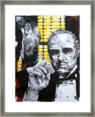 The Godfather Framed Print by Michael Leporati