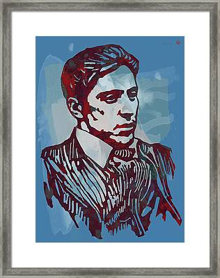 The Godfather - Stylised Etching Pop Art Poster Framed Print by Kim Wang
