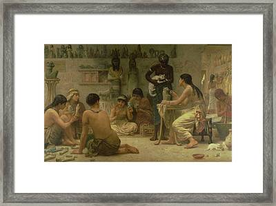 The Gods And Their Makers, 1878 Framed Print by Edwin Longsden Long