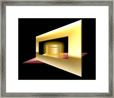 The Golden Can Framed Print by Cyril Maza