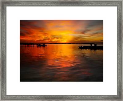 The Golden Hour Framed Print by Karen Wiles