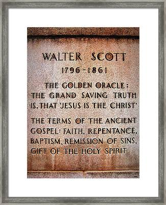 The Golden Oracle - Nashville Framed Print by Glenn McCarthy Art and Photography