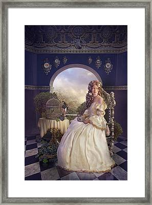 The Golden Room Framed Print by Cassiopeia Art