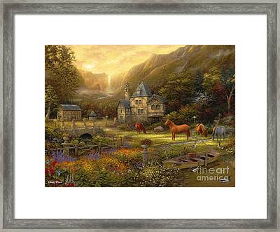 The Golden Valley Framed Print by Chuck Pinson