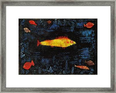 The Goldfish Framed Print by Paul Klee