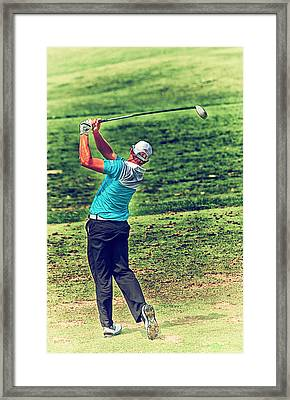 The Golf Swing Framed Print by Karol Livote