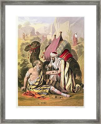 The Good Samaritan, From A Bible Framed Print by Siegfried Detler Bendixen