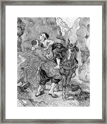 The Good Samaritan Framed Print by Vincent van Gogh