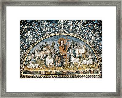 The Good Shepherd. 5th C. Italy Framed Print by Everett