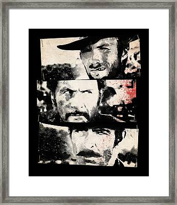 The Good The Bad And The Ugly Framed Print by Filippo B