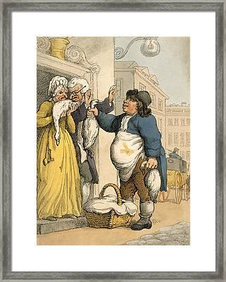 The Goose Seller, Plate No.2 Framed Print by Thomas Rowlandson