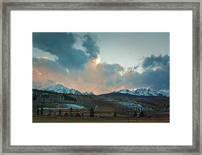 The Gore Range Framed Print by Greg Sagan