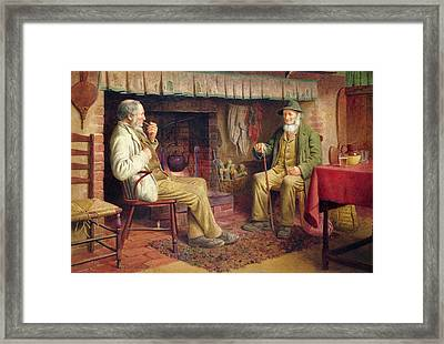 The Gossip Framed Print by Henry Spernon Tozer