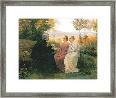 The Grain Of Wheat Framed Print by Anne Francois Janmot
