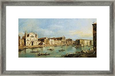 The Grand Canal Framed Print by Francesco Guardi