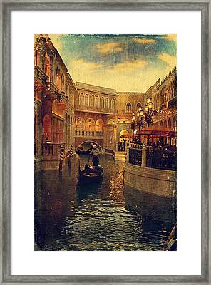 The Grand Canal Shoppes Framed Print by Maria Angelica Maira