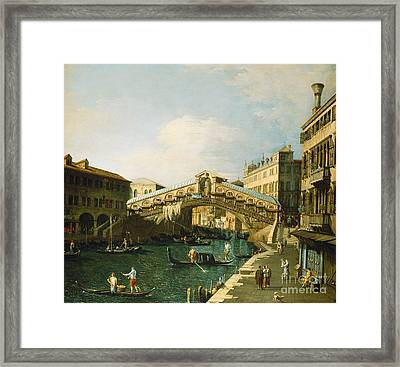 The Grand Canal   Venice Framed Print by Canaletto