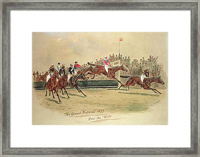 The Grand National Over The Water Framed Print by William Verner Longe