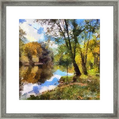 The Grand River In Autumn Framed Print by J S