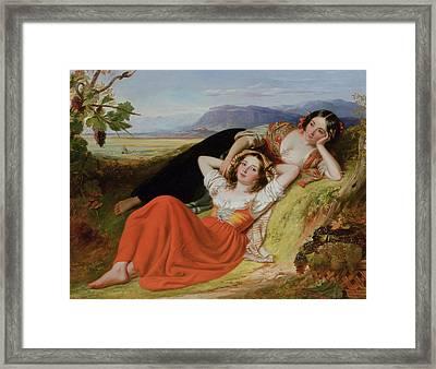 The Grape Harvest Framed Print by Robert McInnes