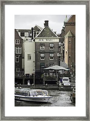 The Grasshopper Damrak Canal Amsterdam Framed Print by Teresa Mucha
