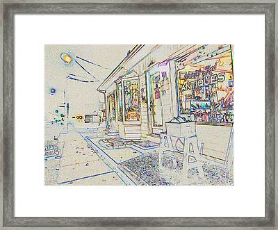 The Grateful Shed - Antique Store Framed Print by Susan Carella