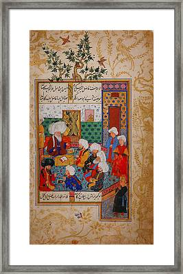 The Great Abu Sa'ud Teaching Law Framed Print by Celestial Images