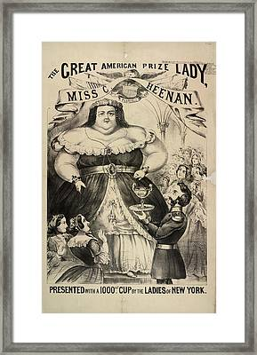 The Great American Prize Lady Framed Print by British Library