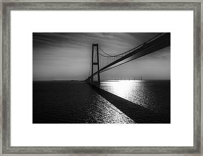 The Great Belt Bridge Framed Print by Erik Brede