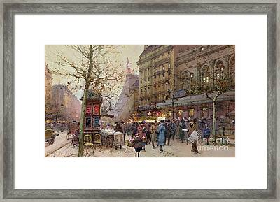 The Great Boulevards Framed Print by Eugene Galien-Laloue
