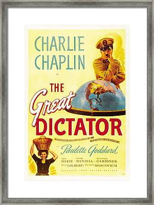 The Great Dictator - 1940 Framed Print by Georgia Fowler
