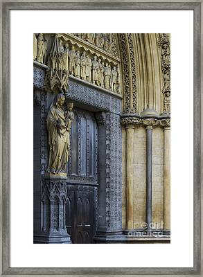 The Great Door Westminster Abbey London Framed Print by Tim Gainey