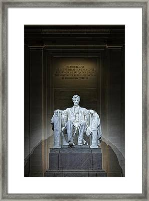 The Great Emancipator Framed Print by Metro DC Photography