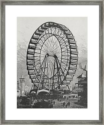 The Great Ferris Wheel In The World Columbian Exposition, 1st July 1893 Framed Print by American School