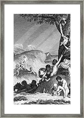 The Great Flood Framed Print by Collection Abecasis