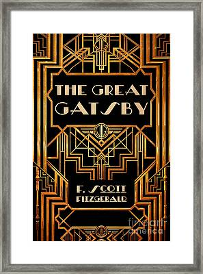The Great Gatsby Book Cover Movie Poster Art 3 Framed Print by Nishanth Gopinathan