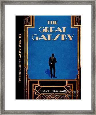 The Great Gatsby Book Cover Movie Poster Art 4 Framed Print by Nishanth Gopinathan
